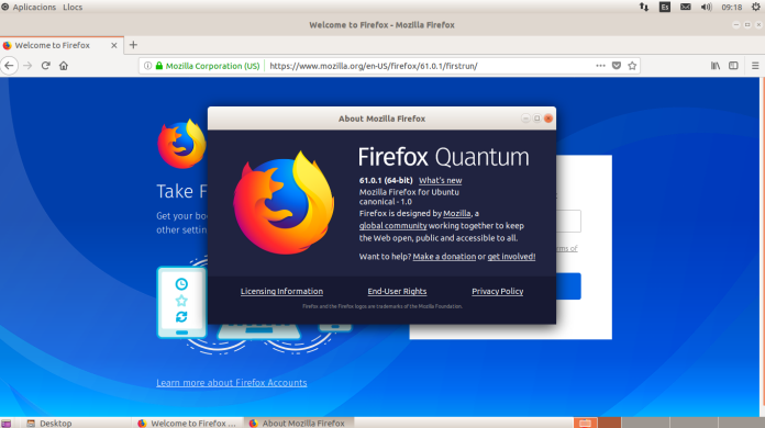 Firefox en Linkat Edu bajo GNOME Flashback