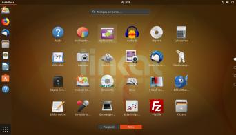 Vista de aplicaciones de GNOME